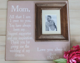 Wedding Frame for Parents Wedding Picture Frame for Parents Thank You Gift Wedding Gift Personalized Picture Frame