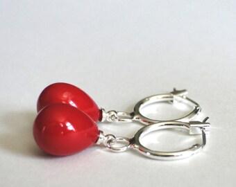 Jewelry / Dangle Earrings / Swarovski Pearl Earrings / Sterling Silver Drop Pearl Earrings / Gift for Her / Accessories