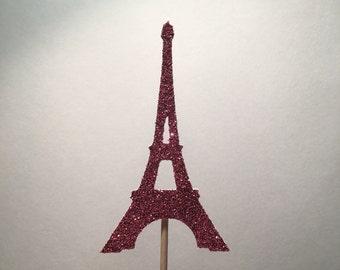 Eiffel Tower Cupcake Topper