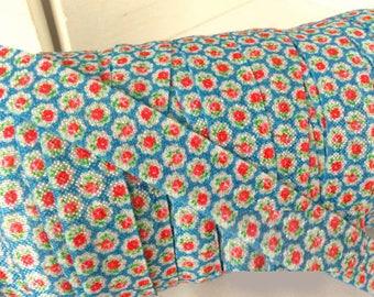 "5/8"" Vintage Blue & Red Floral FOE ~ Fold Over Elastic ~ Headbands ~ FOE ~ Trim ~ 5/8 inch"