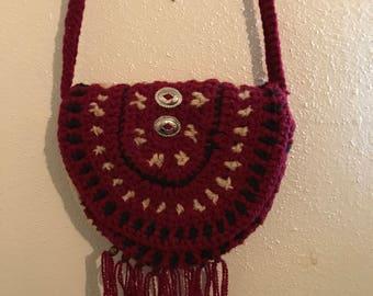 Red Saddle Crossover Bag