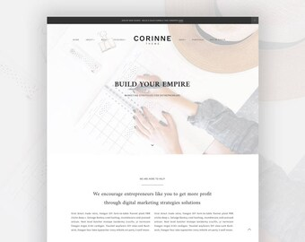 Feminine Wordpress Theme for Female Entrepreneurs | Genesis Child Theme | eCommerce | Portfolio - Corinne