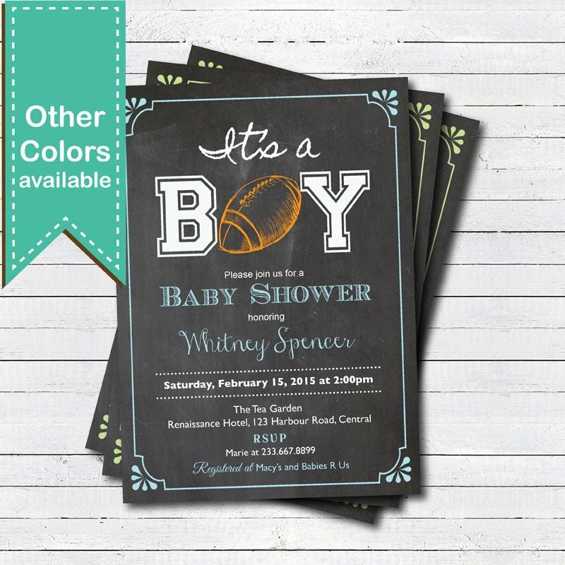Very football baby shower invite rf95 advancedmassagebysara top american football baby shower invitation retro chalkboard qr56 filmwisefo