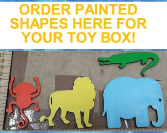 Painted Toy Box Chest Shapes