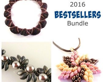 Superduo Bead Patterns - Beaded Necklace Patterns - Beaded Bracelet Patterns - Beading Tutorials and Patterns - 2016 Bestsellers Bundle