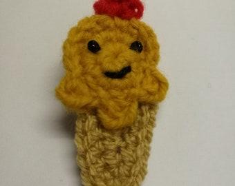 Caramel Happy Ice Cream Crochet Hairclip