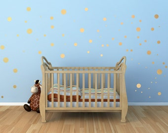 Assorted Peel and Stick polka dot wall decal,nursery wall decal,gold polka dot wall decal, removable wallpaper pattern, wall decals nursery