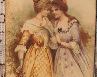Shabby Victorian Sisters Whispering Hang Gift Tags