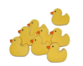 Mini Ducky Duck Hand Decorated All Natural Butter Cookies - 5 dozen