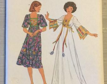 Simplicity 7975 Caftan Dress Boho Vintage Sewing Pattern 1970s Misses Size 14