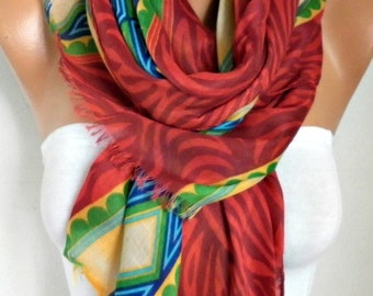 Red Cotton Scarf,Summer Scarf Cowl Bridesmaid Gift Beach Wrap Pareo Gift Ideas For Her Women Fashion Accessories Scarves