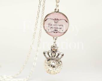 Designer fetus pregnancy bola Silver Princess bola, pregnant woman jewelry