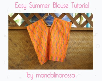 Easy Summer Blouse Tutorial Instant Download PDF