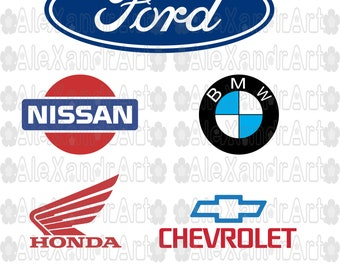 logo cars SVG,PNG,DXF,jpg,pdf,25 files,cutting files,ford svg,nissan svg,bmw svg,honda svg,chevrolet svg,logo ford,to cricut,to cameo