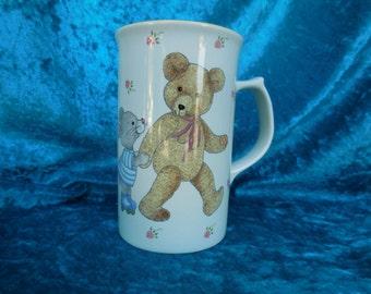Vintage Mikasa Tall Teddy Mug CC018 Japan, Mikasa Teddy Bear Mug, Teddy Bear Mug