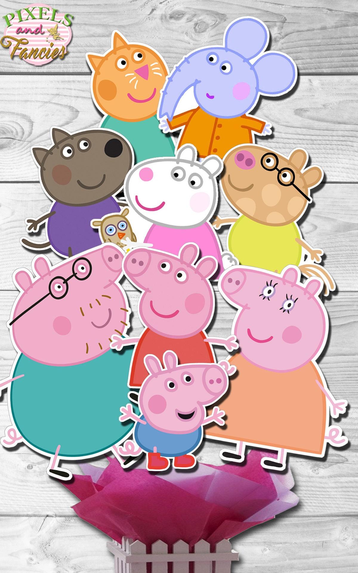 PEPPA PIG Centerpiece Peppa Pig Cake Toppers Peppa Pig