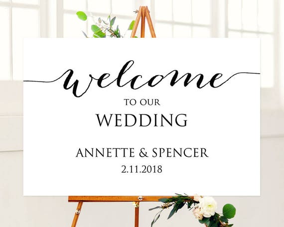 24x36 Welcome to Our Wedding Sign Template