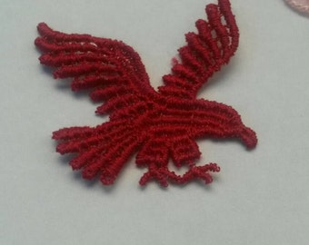 1 Red Eagle BIRD Applique Sew On Animal Patch