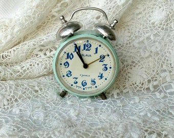 Vintage Alarm Clock, Retro Alarm Clock, Antique Alarm Clock, Shabby Chic Clock, Russian Clock, Desk Vintage Clock, Shabby Chic Decor