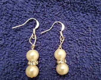 Small Faux Pearl Dangles