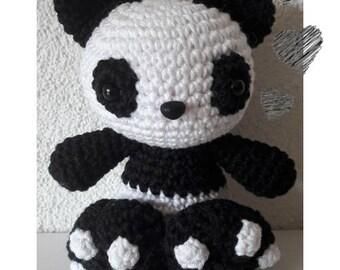 Crochet Panda Pattern, Amigurumi Crochet Pattern,  Pim, the Cuddly Panda, Amigurumi Pattern