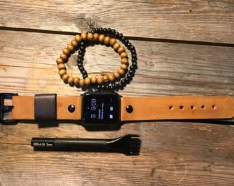 Leather Watch Band Apple Watch 42mm, 38mm Men or Women