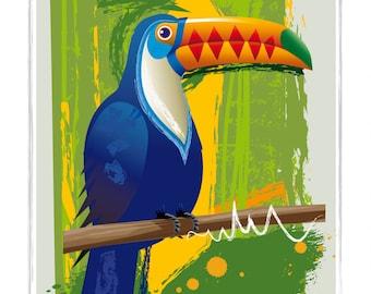 Toucan Print, Toucan Poster, Toucan Art, Toucan Painting, Bird Print, Bird Poster, Tropical Bird Print, Tropical Bird Poster, Toucan Artwork