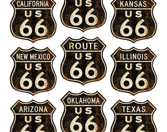 Route 66 States Distressed Wall Decal Set #40913