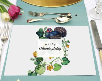 INSTANT DOWNLOAD - Thanksgiving Placemat | Thanksgiving Table Decor
