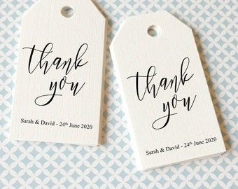 Favour Tags - Personalised Wedding Favour tags -  Thank you favour tags - Foiled Favour Tags - Gift Tags