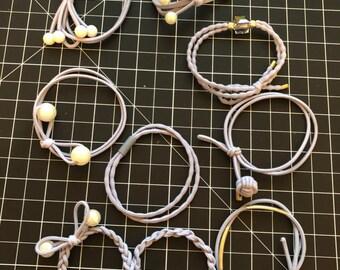 9 pieces cute hair elastic ties. hair band. girls hair ties