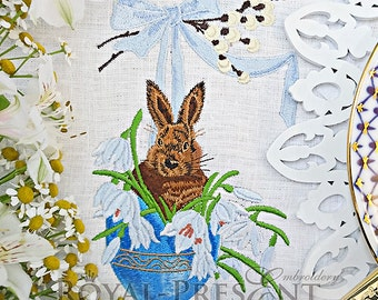Machine Embroidery Design Easter Bunny - 3 sizes