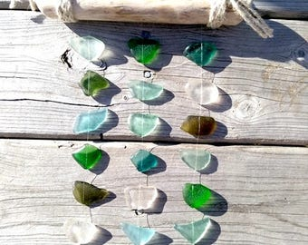 Sea Glass SunCatcher // Genuine Sea Glass + Driftwood// Sun Catcher// Nautical Decor// Beach Glass// SeaGlass Art// Coastal Decor