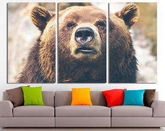 Bear, Bear print, Bear poster, Bear canvas, Bear wall art, Bear home decor, Animal canvas, Animal print, Animal wall art, Animal poster
