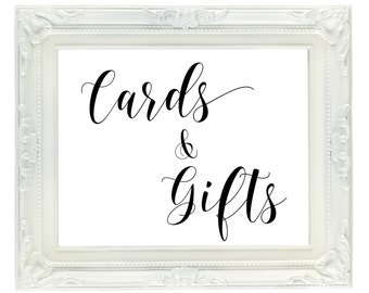 Cards & Gifts Wedding Sign, PRINTABLE wedding sign, gift table sign, Instant Digital Download wedding sign, card table sign, 8x10 PDF, JPG
