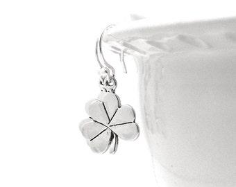 Shamrock Earrings, Clover Earrings, Shamrock Jewelry, Clover Jewelry, Sterling Silver Jewelry, Sterling Silver Shamrock Earrings
