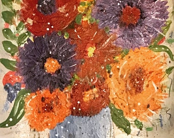 Acrylic Floral Original Painting