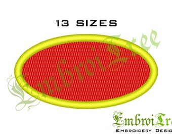 Oval Embroidery Design - Machine Embroidery Oval Shape Download