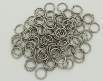 16 swg 3/8'' jump rings  pure titanium saw cut AR 6.2