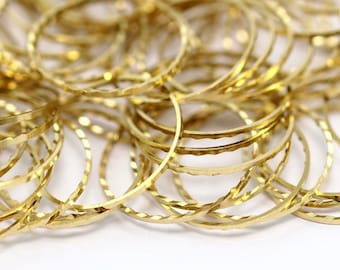 Brass Geometric Jewelry, 50 Cutting Raw Brass Circles (20mm) A0587