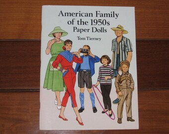 1994 American Family of the 1950s Paper Doll Book by Tom Tierney (Uncut)