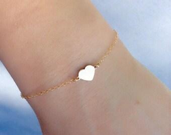 14k Gold Filled Bracelet with Heart Charm