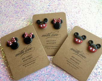 Mickey & Minnie Earrings (all Minnie, all Mickey availible)