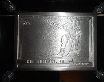 The Highland Mind  Collectors Baseball Card of KEN GRIFFERY JR.       Minted in 4.25 Ounces .999 Fine Silver