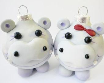 Hippopotamus for Christmas Ornaments, FREE SHIPPING