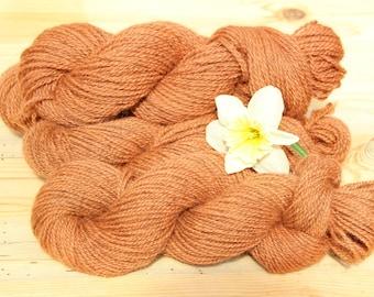 Madder Dyed Wool Yarn/Plant Dyed Yarn/Natural Dyed Yarn/2-Ply Yarn/Copper/Reddish Brown/Pink Clay/Rust/Earthy Yarn/Sustainable Yarn/Eco Yarn