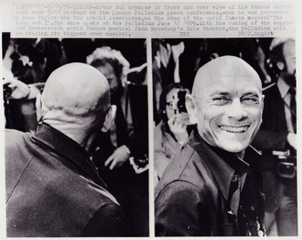 1978 Vintage Press photograph Yul Brynner - London Palladium