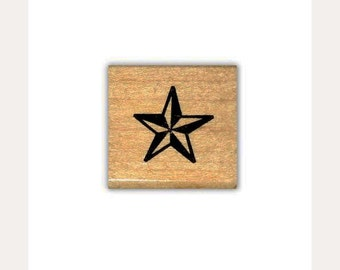 Star mounted rubber stamp, military, army, western, galaxy, accent stamp, astronomy, Sweet Grass Stamps No.1