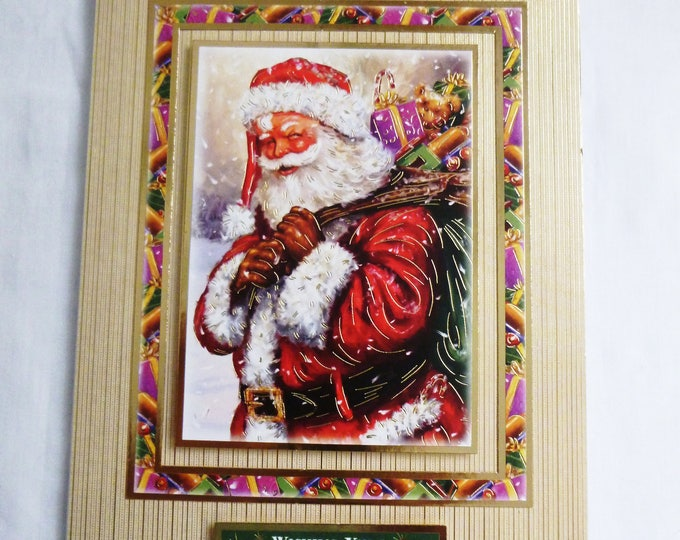 Vintage Santa Christmas Card, Greeting Card, Father Christmas, Santa Claus, Male or Female, Any Age