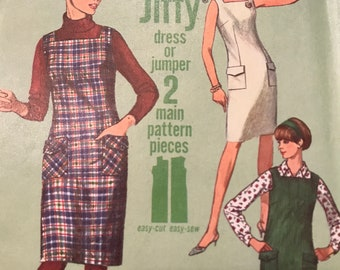 Cute Vintage Jiffy Dress or Jumper Pattern---Simplicity 6641---Size 16  Bust 36